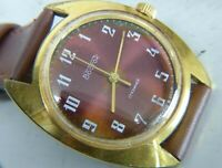 Wostok Vostok wristwatch Russian USSR 17 jevels 2409A cal gold plated