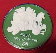 Hallmark Cameo Ornament Baby's First Christmas 1981 New