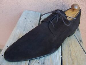 ROBERTO BOTTICELLI Mens Dress Shoes Brown Suede Leather Italian Lace Size 11.5M