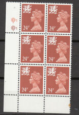 New listing Wales - Questa - 24p Indian Red - Cyl Q1 x 6 Mnh