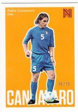2017 Panini Nobility Soccer Orange Parallel #84 Fabio Cannavaro Italy 36/75