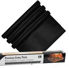 New listing Non-Stick Heavy Duty Oven Liners3-Piece Set-Thick,Heat Resistant Fiberglass to