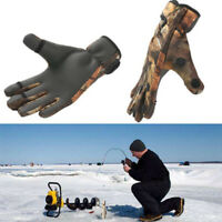 Neoprene Cloth Fish Equipment PU Leather Breathable Fishing Gloves 3 Finger Cut