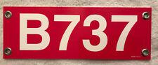 B737 Hard Plastic Sign
