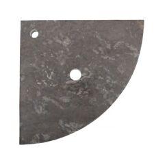 WOHNFREUDEN Naturstein Marmor Waschtisch-platte für Steinwaschbecken 55x55x3cm