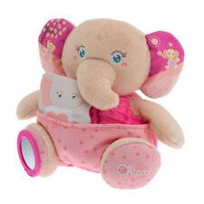 ◘ - Doudou Peluche Eveil Marionnette Eléphant Rose Soft Cuddles Chicco Neuf