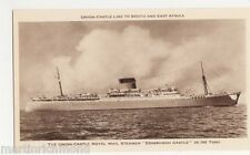 Union Castle Royal Mail Motor Vessel Athlone Castle Shipping Postcard, B536