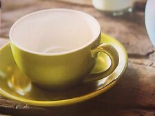 BEVANDE GREEN 200ml COFFEE TEA CUP AND SAUCER SET (6-SETS) BRAND-NEW COMMERCIAL