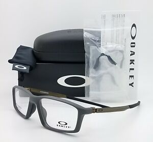 NEW Oakley Chamber RX Eyeglasses Frame Pavement Grey Metal OX8138 -0253 53mm