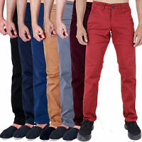 MENS CHINOS SKINNY SLIM FIT STRETCH TWILL SMART TROUSERS JEANS by AD MJT22