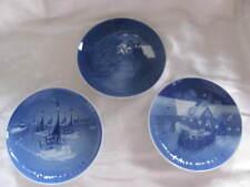 Bing & Grondahl Denmark Jule Aften Christmas Plates - Set Of 3 - 1963 1966 1969