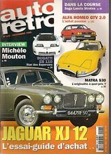 AUTO RETRO 215 MATRA 530 JAGUAR XJ12 BUGATTI EB110 FIREBIRD TRANS AM SD-455 73