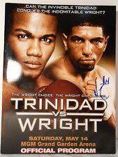 AUTOGRAPHED FELIX TRINIDAD vs. WINKY WRIGHT On-site Boxing Program EX-