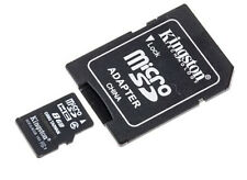 8GB Kingston microSD HC Memory Card with Full Size Adapter
