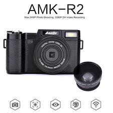 AMKOV AMK-R2 24MP 1080P Digital SLR DSLR Camera+Wide-angle Lens Camcorder DVR