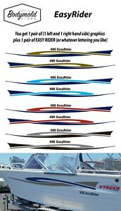 Stacer style EasyRider Graphics  1 pair left and right 2500mm long