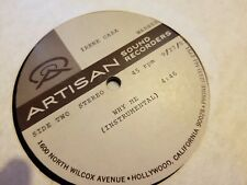 "IRENE CARA WHY ME RARE 12"" ACETATE RECORD ARTISAN SOUND RARE"