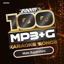 Zoom Karaoke MP3+G Disc Male Superstars New Sealed