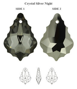 Genuine SWAROVSKI 6090 Baroque Crystals Pendants * Many Colors & Sizes