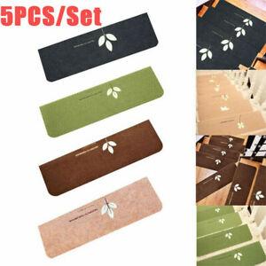 Set of 5 Luminous Stair Treads Floor Mats Rugs 55*22cm Non-Slip For Kids Elders