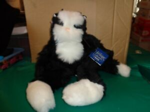 """Ganz Heritage Collection Samson The Black & White 14"""" Plush Cat New With Tag"""