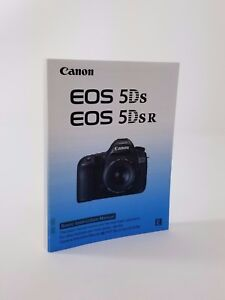 Canon EOS 5Ds Instruction Owners Manual EOS 5Ds Book NEW