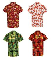 HAWAIIAN SHIRT MENS PALM TREE BEACH HOLIDAY PARROT FANCY DRESS STAG PARTY PIZZA