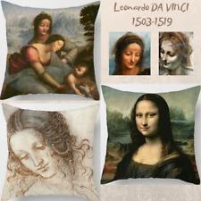 """Leonardo DA VINCI Decor HOME Sofa PILLOW CASE 18x18""""- LEDA-Saint Ann-La JOCONDA"""