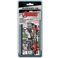 Marvel Avengers Icon Filled Pencil Tin Stationery Set Pad Pencil Ruler Sharpener