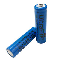 2X 3.7V 18650 3800mAh Li-ion Rechargeable Battery for Flashlight Torch