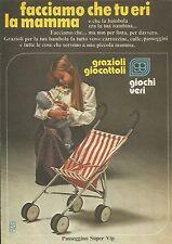 X9933 Passeggino Super Vip - GRAZIOLI Giocattoli - Pubblicità 1976 - Advertising