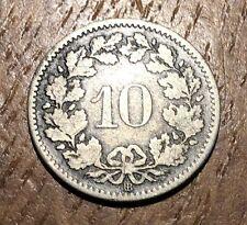 PIECE DE 10 RAPEN 1850 BB SUISSE (181) RARE !!