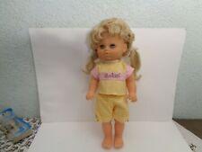 Vintage DDR Puppe mit festem Körper ca. 40 cm lang unbespielt