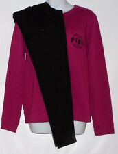 "Victoria's Secret Pink ""Love Pink 1986"" Varsity Pocket Crew & Fashion Leggings S"