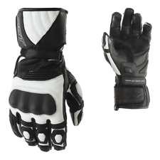 RST GT Ladies Motorcycle Motorbike Leather Gloves - Black White