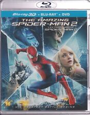 THE AMAZING SPIDERMAN 2 3D BLU-RAY & BLURAY & DVD SET with Andrew Garfield