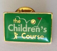 The Childrens Course Golf Pin Badge Vintage Rare Original (N7)