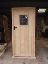 Solid Oak Framed Ledge Door And Frame Hardwood Exterior