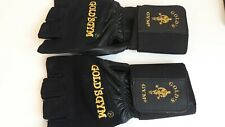 Black Leather Gold's Gym Gloves Size Small