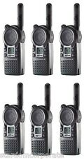 Motorola CLS1410 UHF 1 Watt 2-Way Radios with Single Chargers Qty 6