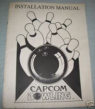 Original Capcom Bowling Video Game Manual /Book