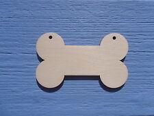 Wooden Plain Shape Dog Bone Gift Tag Craft Blank Christmas Decoration pack x 10