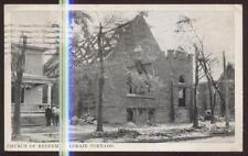 Postcard LORAIN Ohio/OH  Tornado Dieaster Church of Redeemer Ruins view 1924