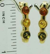 Russian Natural Amber natural 585-14 k gold stud earrings 3.9 gram US seller
