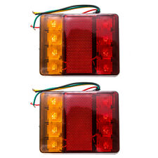 2X TRAILER LIGHTS LAMPS IP65 WATERPROOF LED TAIL STOP INDICATOR DUAL COLOR Kit