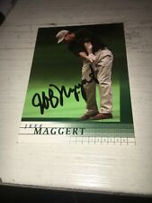 Jeff Maggert Signed 2001 Golf Card