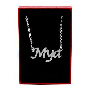 Mya Name Necklace Silver Tone | Wedding Designer Custom Made Appreciation Gifts