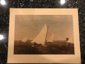 SAILING BY THOMAS EAKINS LIVING AMERICAN ART LITHOGRAPH VINTAGE PRINT