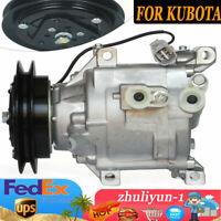 A/C Compressor & Clutch 6A671-97114 / 97110 CO 11287C FOR Kubota Tractor 1111287