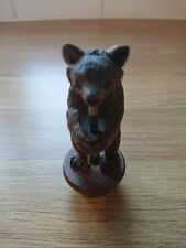 **RARE Vintage Wood Black Forest Bear Bottle stopper Cork